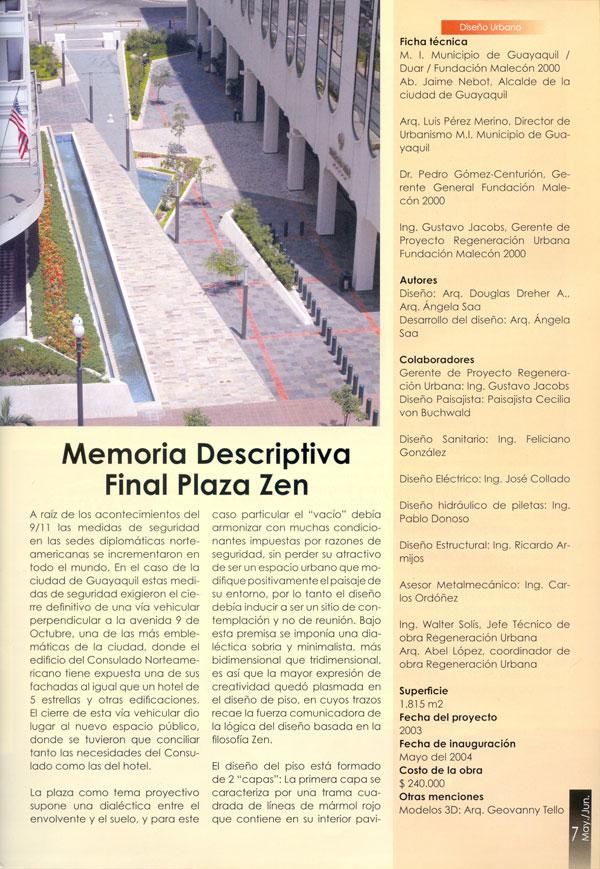 Memoria descriptiva final plaza zen 5 1 2007 for Memoria descriptiva arquitectura